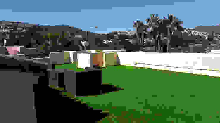 Azotea con césped artificial Balcones y terrazas de estilo minimalista de Albergrass césped tecnológico Minimalista