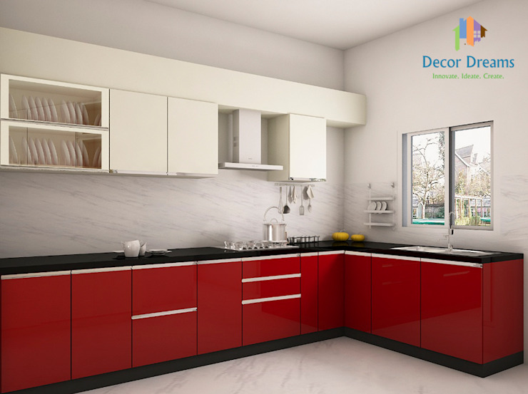 Adarsh Palm Retreat, 3BHK - Mr. Deepak Modern kitchen by DECOR DREAMS Modern