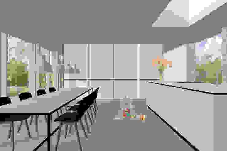 Modle woningen - licht ruimte comfort Moderne eetkamers van Modle Woningen Modern Hout Hout