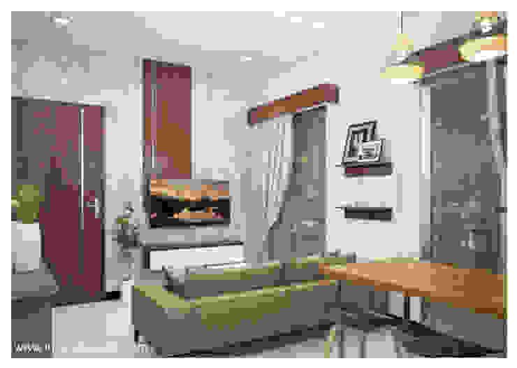CB 02 Apartment Bandung:  Ruang Makan by Inspace Studio