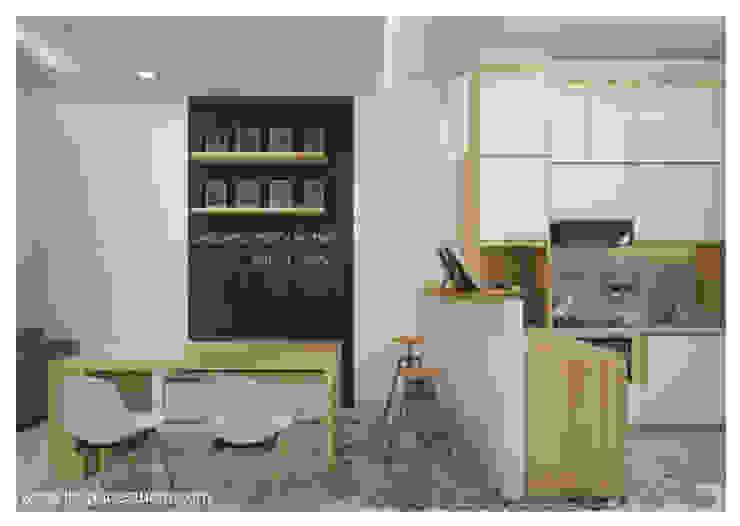 Ruang makan - Perspektif lain : Ruang Makan oleh Inspace Studio, Minimalis