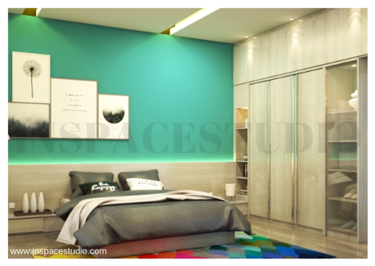 Kamar tidur - perspektif samping Kamar Tidur Minimalis Oleh Inspace Studio Minimalis