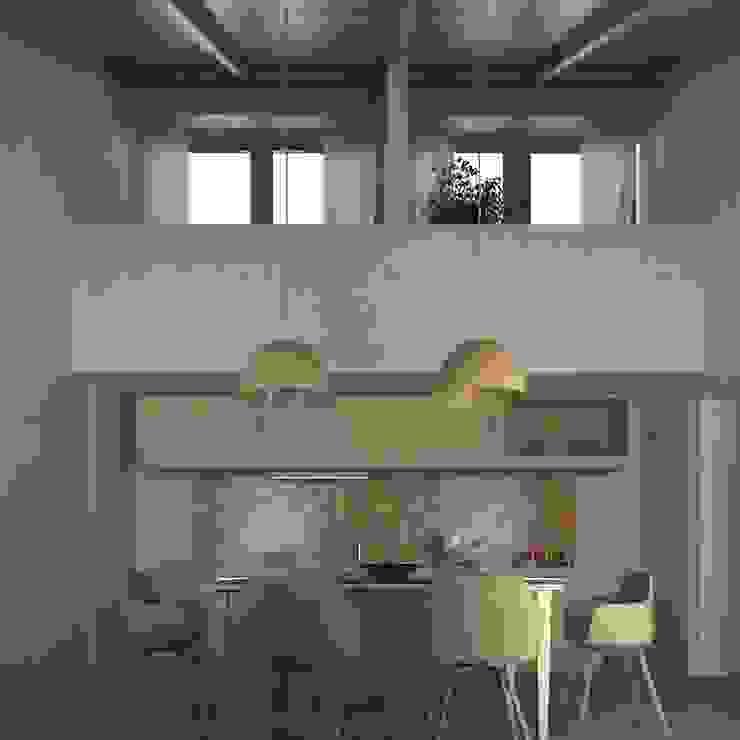 La sala da pranzo comune Sala da pranzo in stile mediterraneo di Ing. Massimiliano Lusetti Mediterraneo Legno Effetto legno