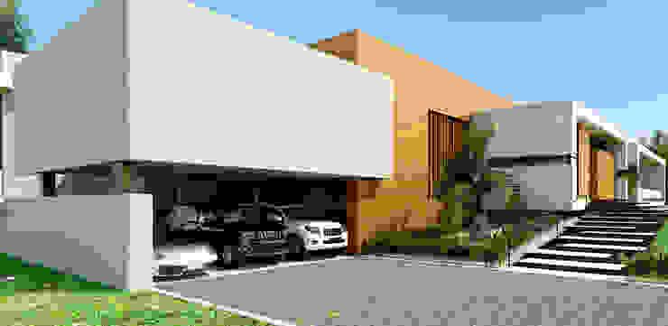Área de garajes / Casa Conjunto residencial Las Victorias / Ibagué - Colombia de Taller 3M Arquitectura & Construcción Minimalista Concreto