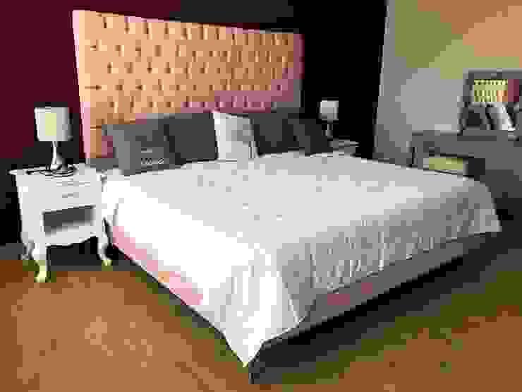 Casa BeCe Estudio Chipotle Dormitorios modernos Compuestos de madera y plástico Rosa