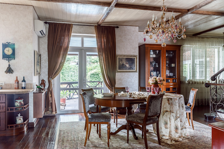 Семейные традиции: Столовые комнаты в . Автор – Студия дизайна Светланы Исаевой, Кантри