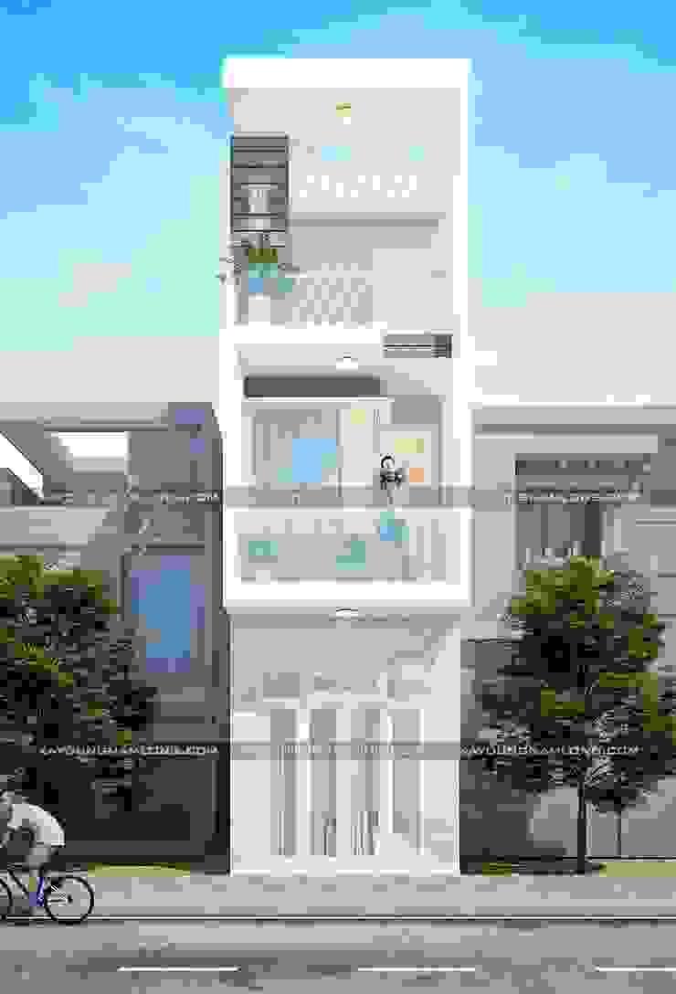 Bản vẽ thiết kế nhà rộng 3m bởi Công ty cổ phần tư vấn kiến trúc xây dựng Nam Long Hiện đại
