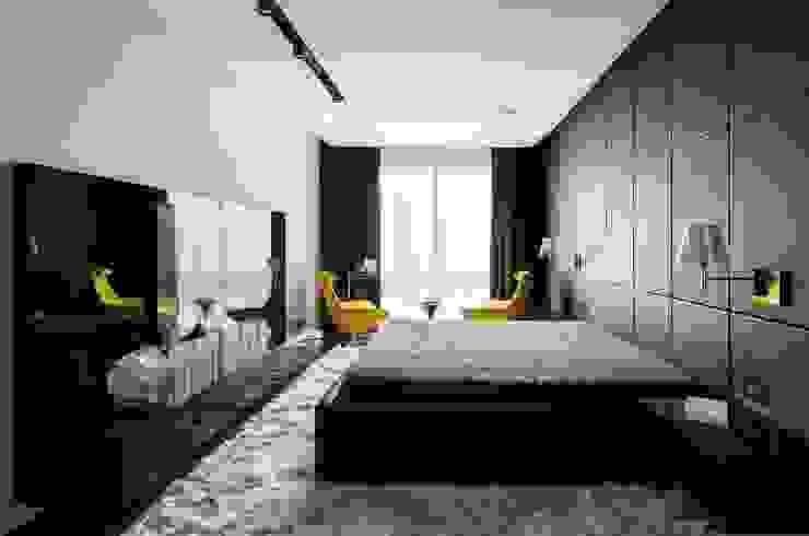 Camera da letto moderna di Geometrix Design Moderno
