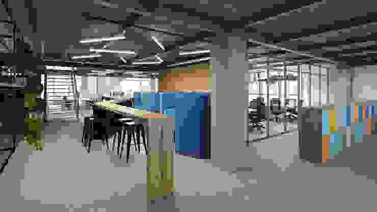 Espaço de reuniões rápidas e informais Espaços comerciais ecléticos por C2HA Arquitetos Eclético
