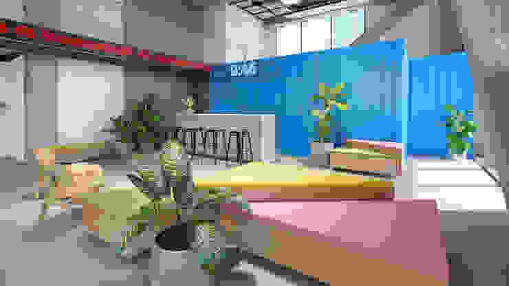 Copa e Bar de agência de publicidade Espaços comerciais ecléticos por C2HA Arquitetos Eclético