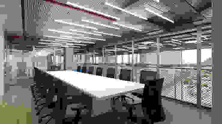 Sala de reuniões Espaços comerciais ecléticos por C2HA Arquitetos Eclético
