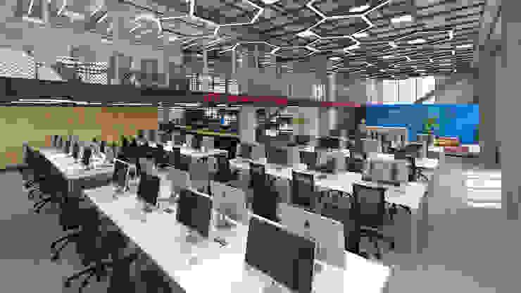 Área de trabalho de agência de publicidade Espaços comerciais ecléticos por C2HA Arquitetos Eclético