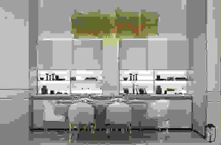 現代廚房設計點子、靈感&圖片 根據 YOUSUPOVA 現代風