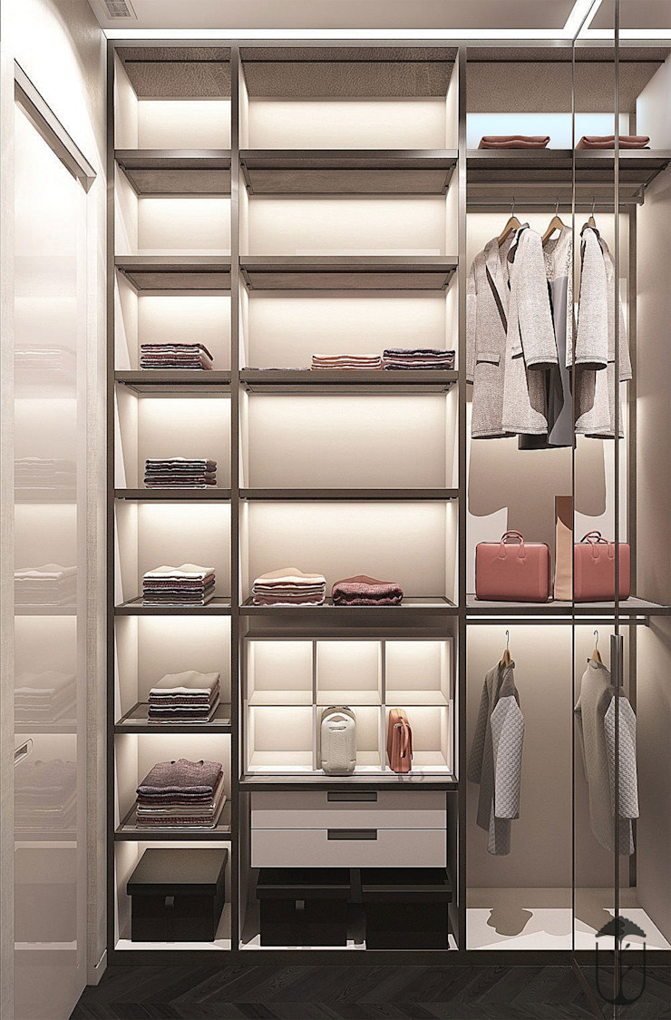 Modern style dressing rooms by U-Style design studio Modern