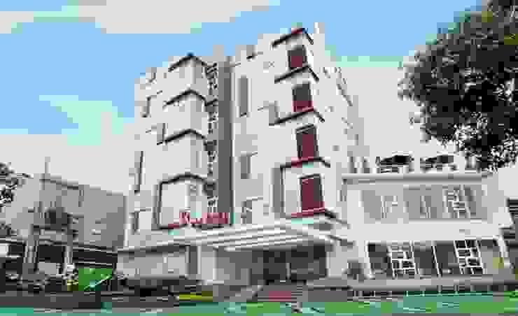 facade Hotel Modern Oleh daun architect Modern