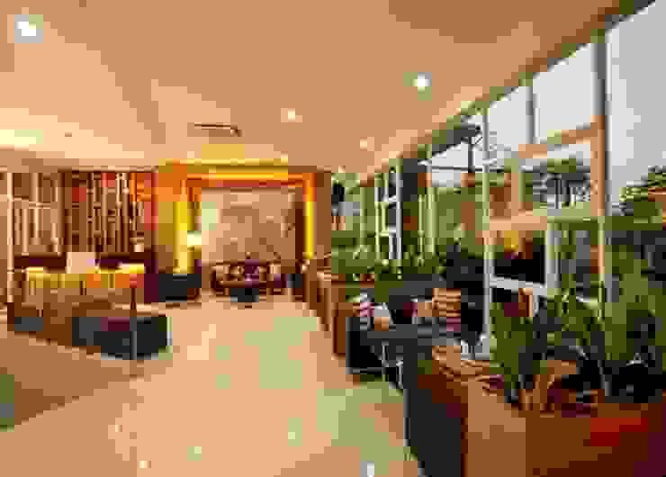 lobby Hotel Modern Oleh daun architect Modern
