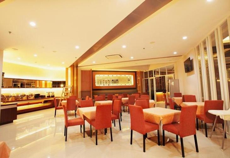 restaurant Hotel Modern Oleh daun architect Modern