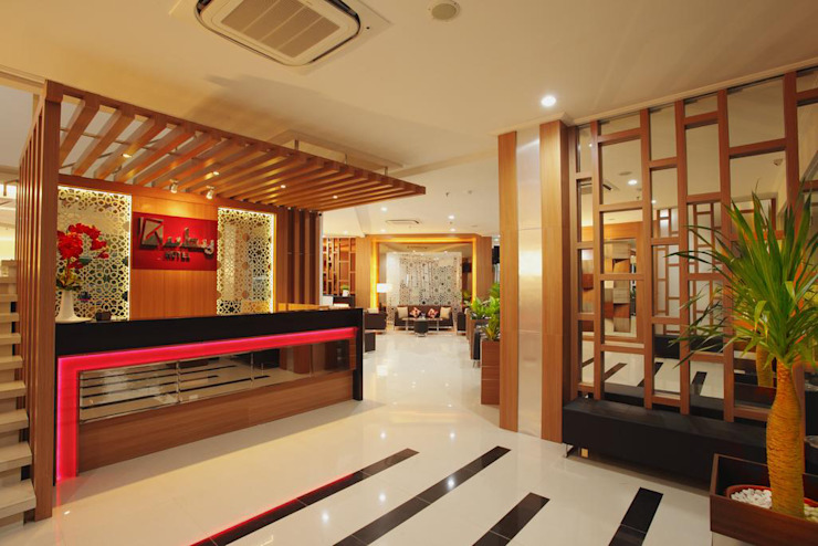 reception Hotel Modern Oleh daun architect Modern