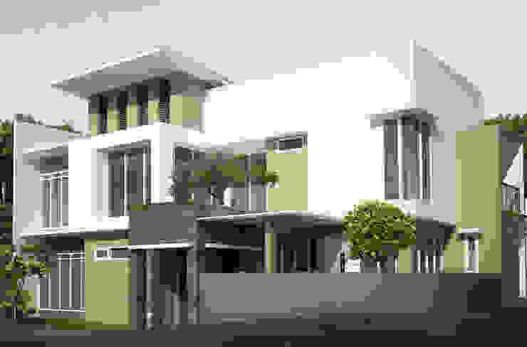 facade design daun architect Rumah Modern