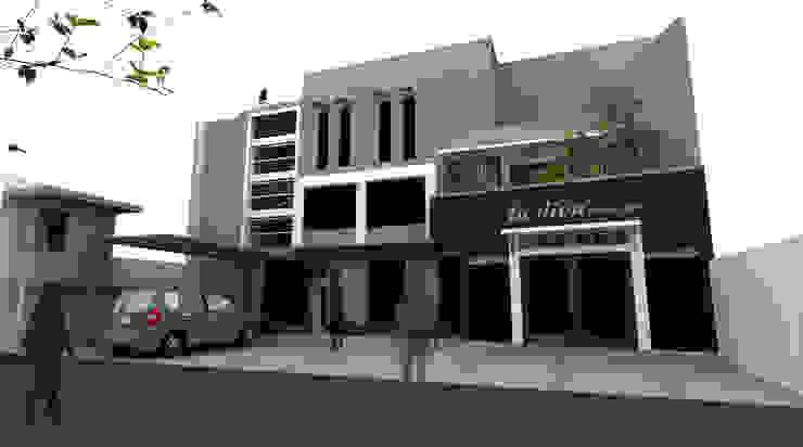 Casas minimalistas por daun architect Minimalista