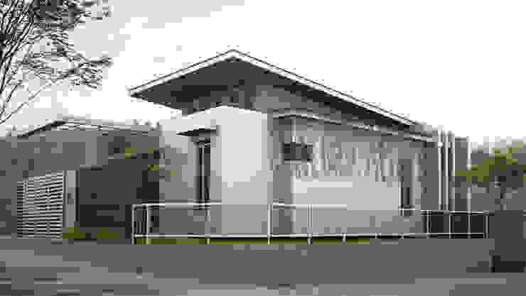rumah tinggal di vila asri selatan II Rumah Gaya Industrial Oleh daun architect Industrial