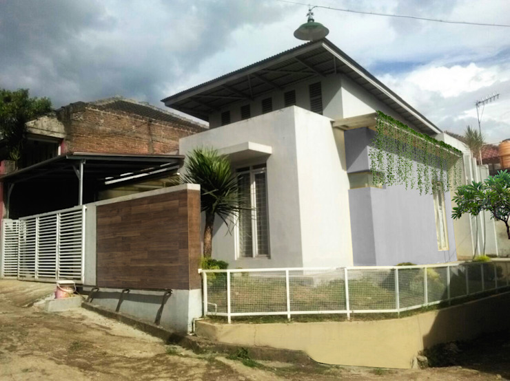 facade daun architect Rumah Gaya Industrial