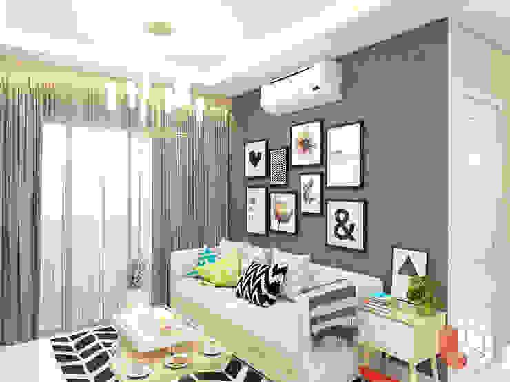 Apartemen Harmoni Ruang Keluarga Minimalis Oleh Lavrenti Smart Interior Minimalis