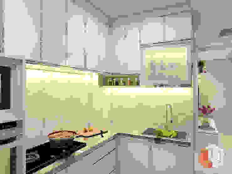 Apartemen Pasar Baru Dapur Modern Oleh Lavrenti Smart Interior Modern