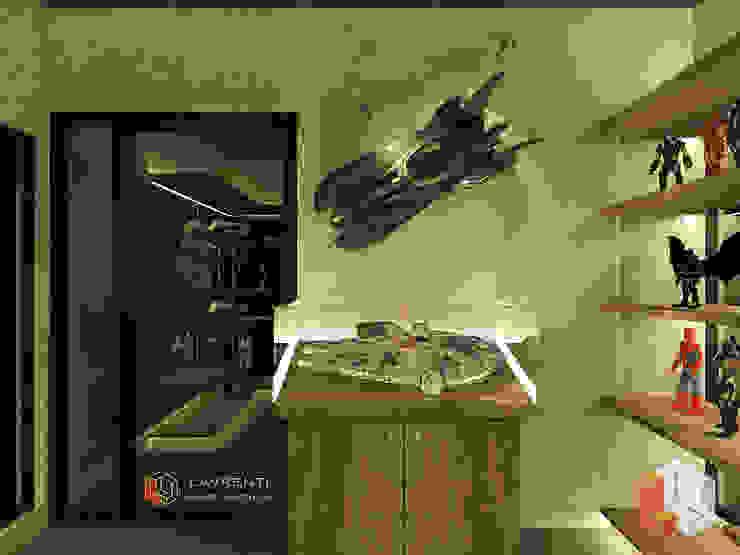 Residensial Kelapa Gading Ruang Media Minimalis Oleh Lavrenti Smart Interior Minimalis