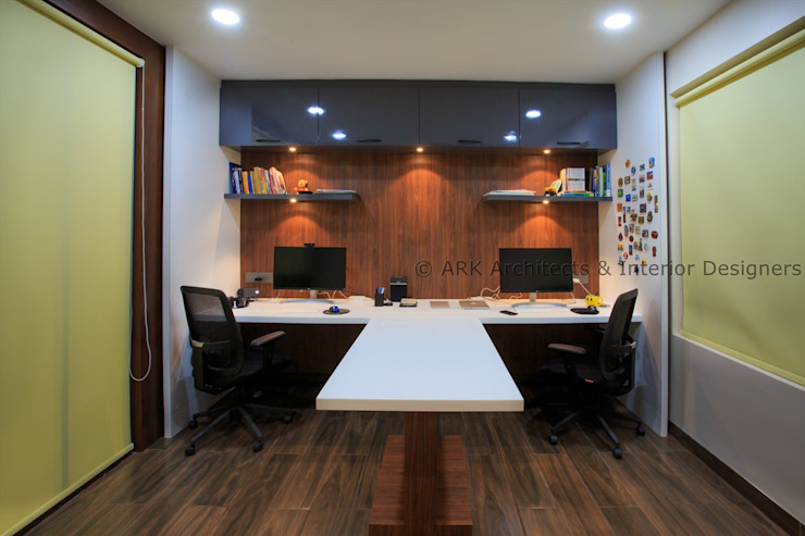 Home Office Modern study/office by ARK Architects & Interior Designers Modern