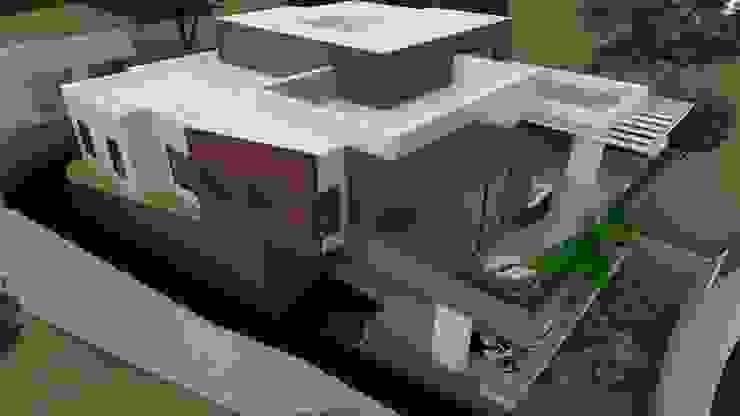 Fachada lateral esquerda Casas modernas por Luciana Hoffmann Moderno