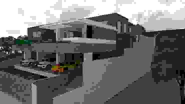 Fachada lateral direita Casas modernas por Luciana Hoffmann Moderno