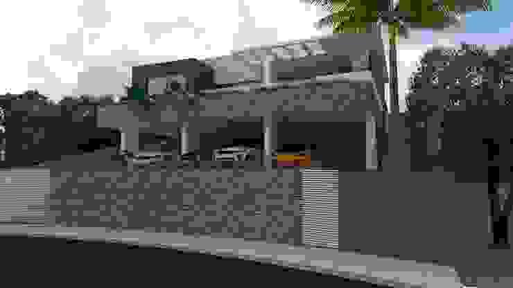 Fachada frontal Casas modernas por Luciana Hoffmann Moderno