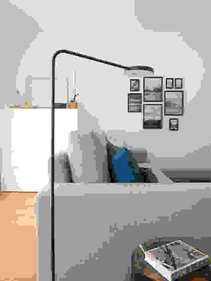 Sala Azul e Cinza Salas de estar modernas por MUDA Home Design Moderno