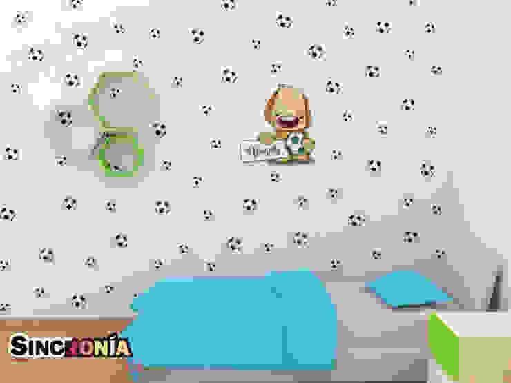 Vinilo Decorativo Futbolista de Sincronía Arquitectura y Diseño Moderno