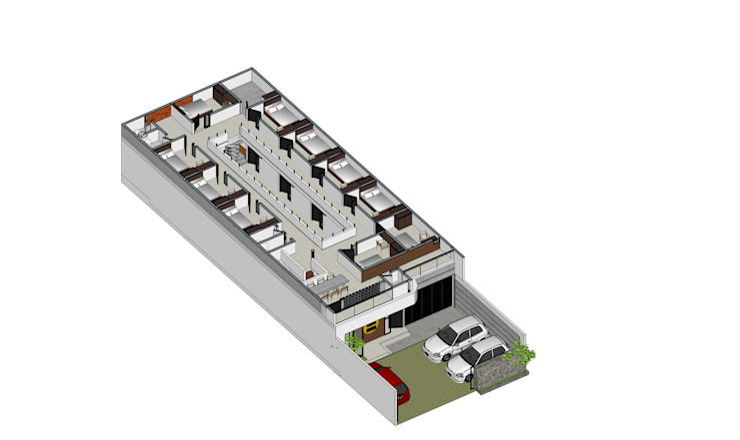 TM Boarding House & Cafe Oleh Tigha Atelier