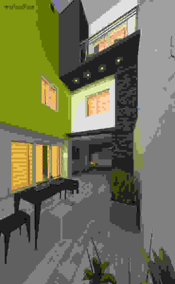Proyecto arquitectonico arquitecto9.com Balcones y terrazas modernos