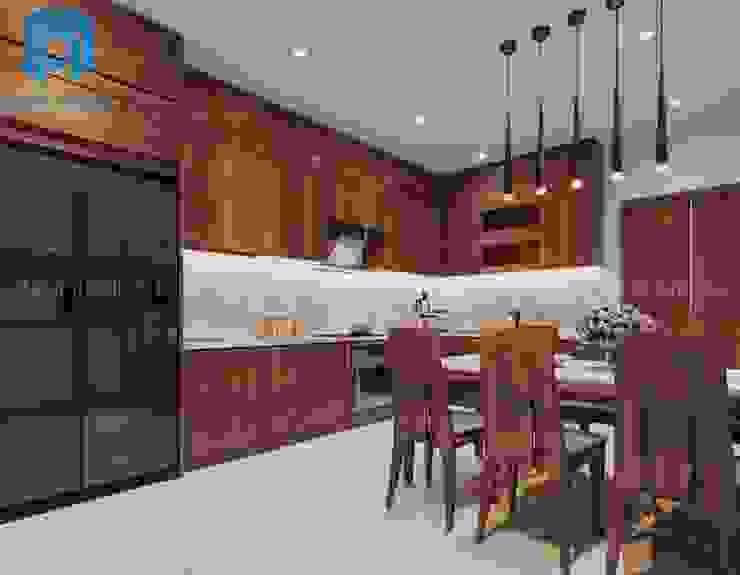 Không gian phòng bếp khá nhỏ gọn Phòng ăn phong cách hiện đại bởi Công ty TNHH Nội Thất Mạnh Hệ Hiện đại