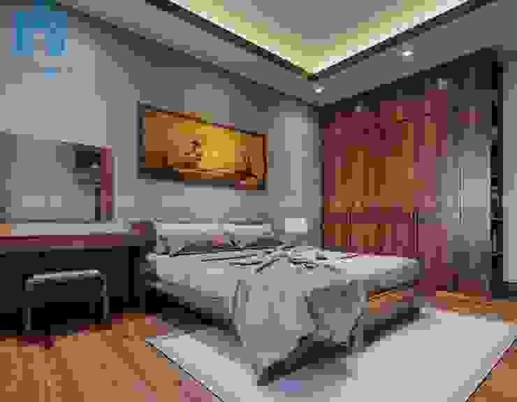 Không gian phòng ngủ khá đơn giản và rộng rãi Phòng ngủ phong cách hiện đại bởi Công ty TNHH Nội Thất Mạnh Hệ Hiện đại