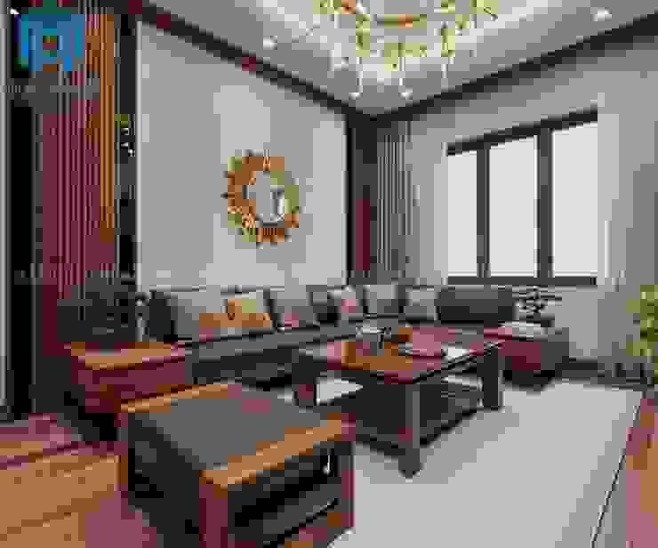 Phòng khách sang trọng và hiện đại bởi Công ty TNHH Nội Thất Mạnh Hệ Hiện đại