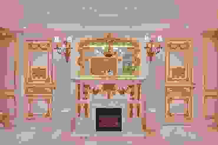 銀狐石雕壁爐: 經典  by 歐式藝廊法式新古典設計, 古典風 大理石