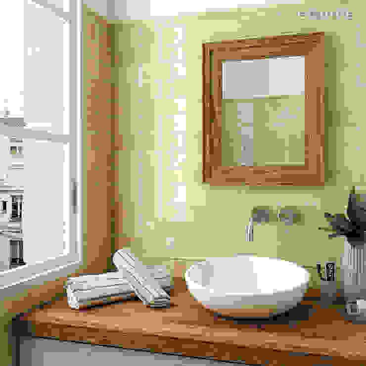 Equipe Ceramicas Classic style bathroom Ceramic Beige