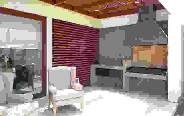 Balconies, verandas & terraces  تنفيذ m2 estudio arquitectos - Santiago