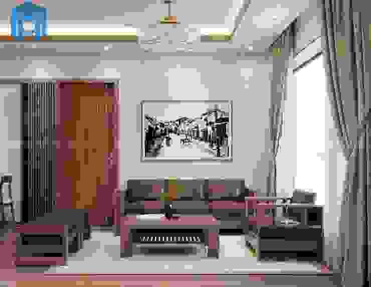 Bộ ghế sofa nệm khung gỗ phòng khách bởi Công ty TNHH Nội Thất Mạnh Hệ Hiện đại