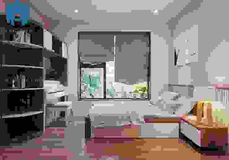 phòng ngủ nhỏ cho con gái bởi Công ty TNHH Nội Thất Mạnh Hệ Hiện đại