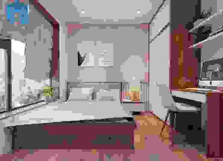Nội thất phòng ngủ nhỏ dành cho con gái khá đơn giản bởi Công ty TNHH Nội Thất Mạnh Hệ Hiện đại