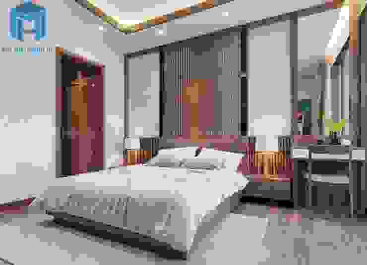 Không gian phòng ngủ master khá hiện đại Phòng ngủ phong cách hiện đại bởi Công ty TNHH Nội Thất Mạnh Hệ Hiện đại