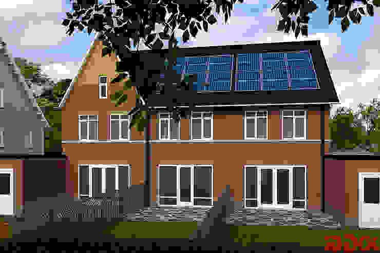 3DDOC Multi-Family house Bricks Brown