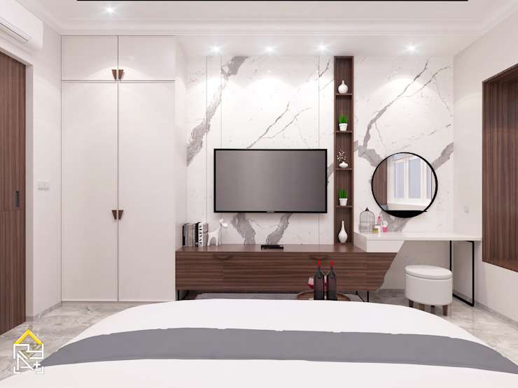 Masterbedroom TV area Oleh JRY Atelier