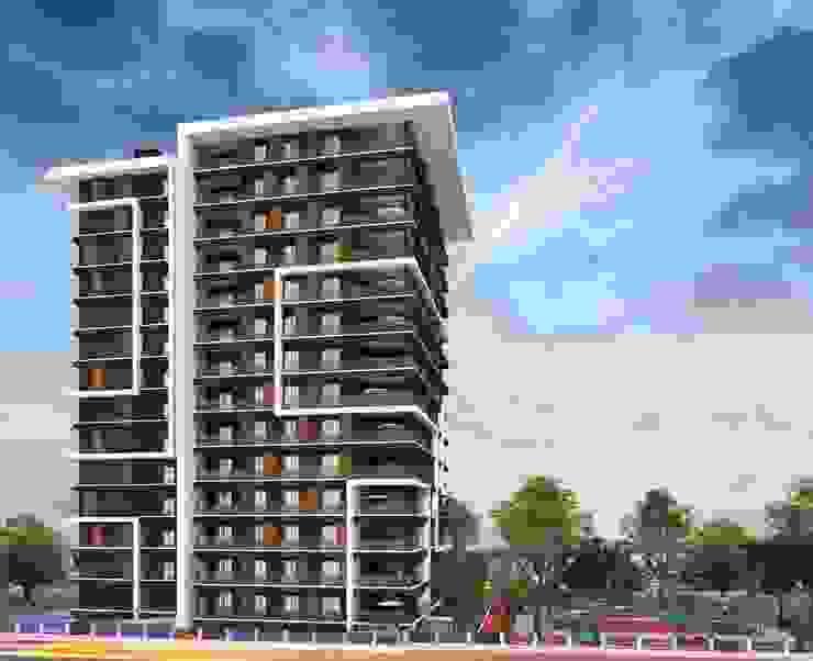 Dikkat çeken tasarım Mimayris Proje ve Yapı Ltd. Şti. Apartman Beton Siyah